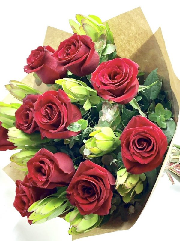 Deep red roses 1